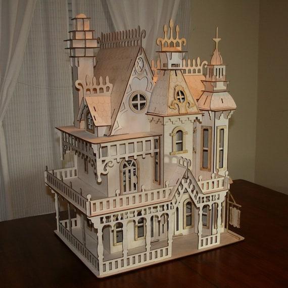 Large Victorian Dollhouse Kit Etsy