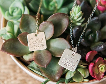 Called to Serve Missionary Necklace, Missionary Jewelry, Missionary Mom, Gifts for Moms, LDS Missionary Necklace, Mormon Mission