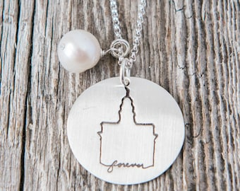 Nauvoo Temple, Temple Forever Necklace, Temple Necklace, Temple, LDS Jewelry, Mormon Charm, Temple Charms, LDS Wedding, Nauvoo Illinois