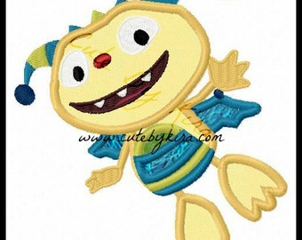 Henry Monster Applique Embroidery Design