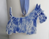 Hermen - Delft Blue Porcelain Schnauzer dog -  Blue and white Delftware  Ornament - wall hanging-Christmas decoration