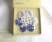 Hand Crafted - Hand painted Flower Disc - Flower Topper- Flower Frog