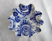 Handpainted Porcelain  Ring Dish