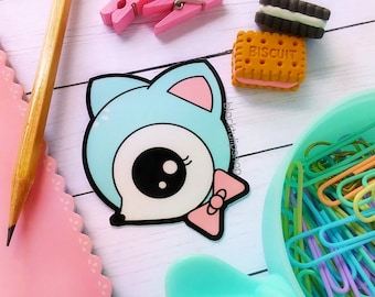 Kawaii Planner Food Sticker Holographic Popsicle Smiley Face Ice Pop Vinyl Stickers for Laptops Planners Notebooks Journals Fairy Kei Kawaii