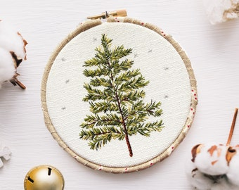 Christmas Tree Hoop Hand Embroidery Pattern pdf Instant Download