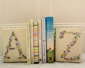 Hand embroidered floral alphabet pdf pattern instant download
