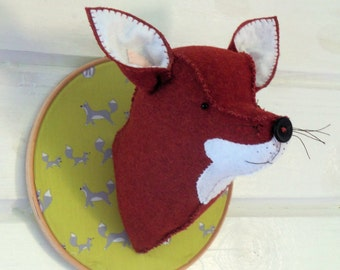 Fox Trophy Head instant download pattern