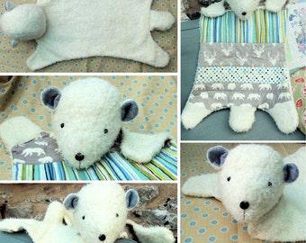 Polar Bear Nursery Rug pdf instant download sewing pattern