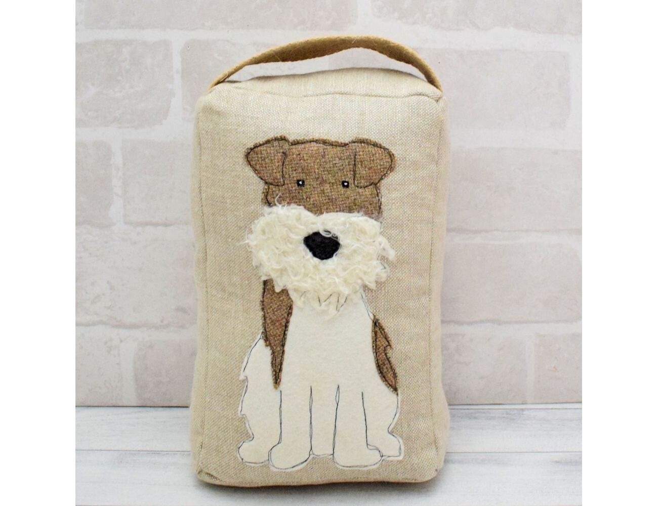 Scruffy Dog Applique Door Stop sewing pattern instant download | Etsy
