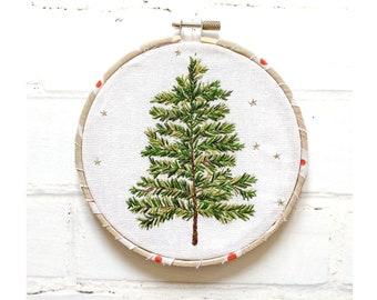Christmas Tree Hoop hand embroidery kit