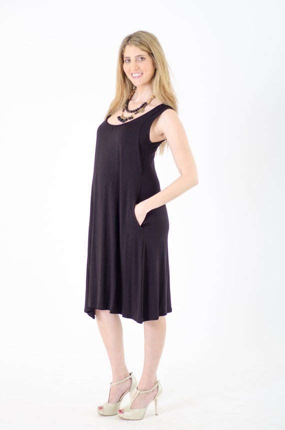 Black Loose Nursing Dress Breastfeeding Dress Maternity Etsy