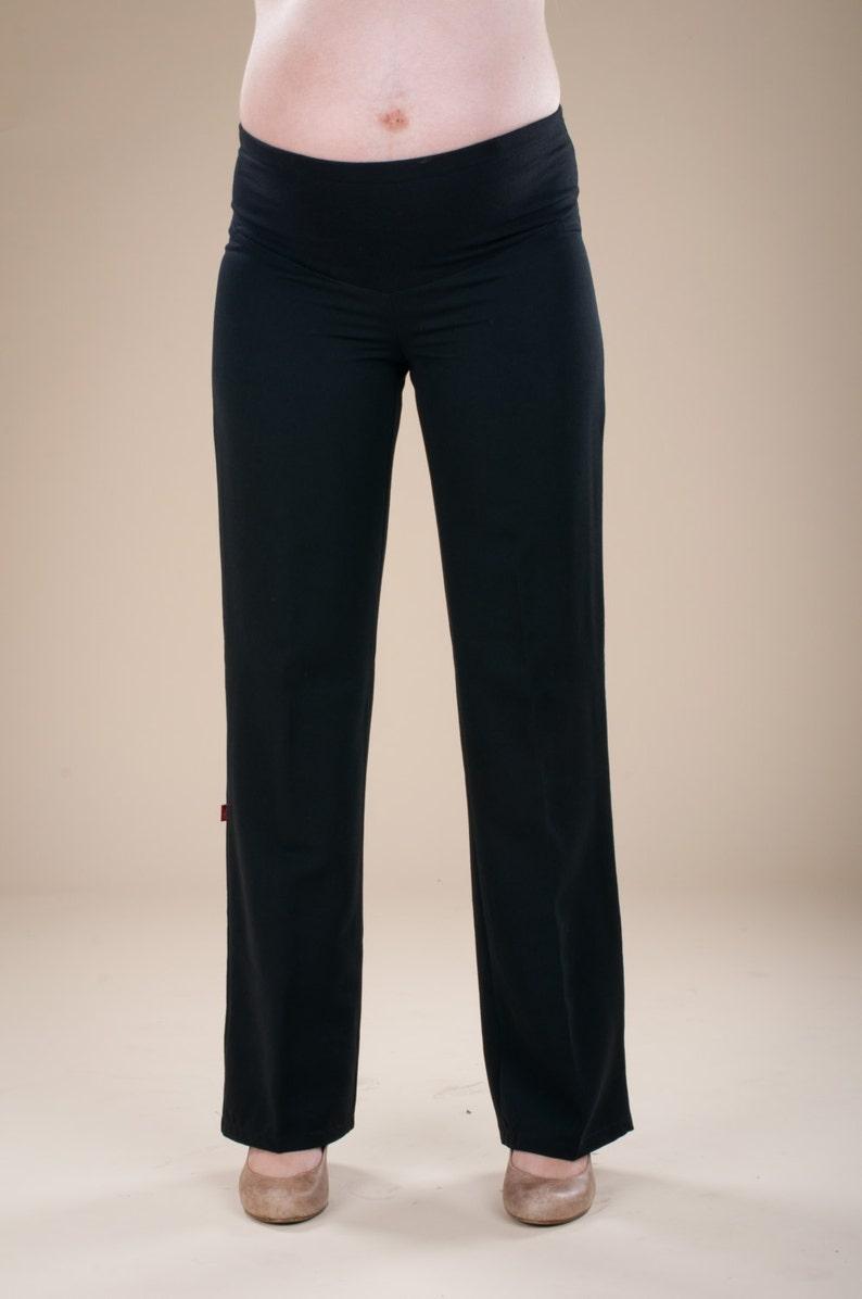 women elegant trouser - maternity wide pants -plus size- maternity clothes  - maternity pants - Big Pants