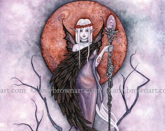 8X10 Priestess fairy PRINT by Amy Brown