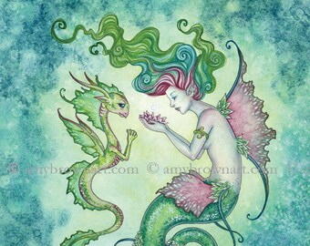 5x7 Magic Under the Water mermaid PRINT by Amy Brown