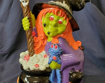Hand Painted Ceramic Halloween Witch