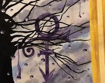 Prince Purple Rain Painting Digital Image