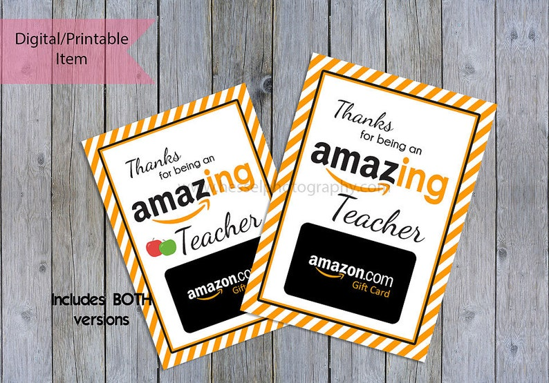 graphic relating to Printable Amazon Gift Card identified as Printable amazon reward card, amazon giftcard holder, amazon present, amazon tag, instructor thank yourself, trainer appreciation, trainer reward