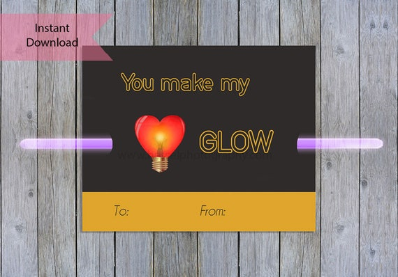 photograph about Printable Kid Valentine identified as shine adhere Valentines Working day card, printable valentine, boy or girl valentine, preschool valentine, non sweet valentine, shine adhere tag, print at residence