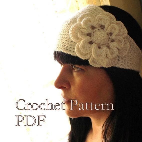 Crochet Pattern Headband With Flower Crochet Pattern Looks Etsy
