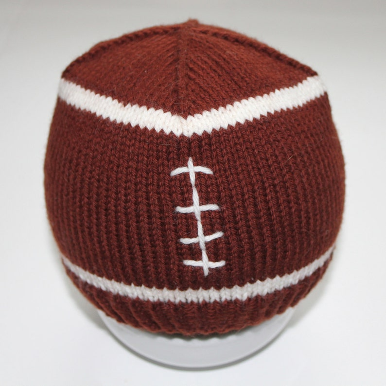 39f6d50eeff PATTERN Football Baby Hat Knitting Pattern Size 0 to 3 6 to