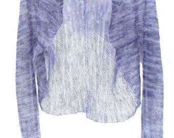 PATTERN - Shrug/Bolero Knitting Pattern All Knit Stitch  Lace