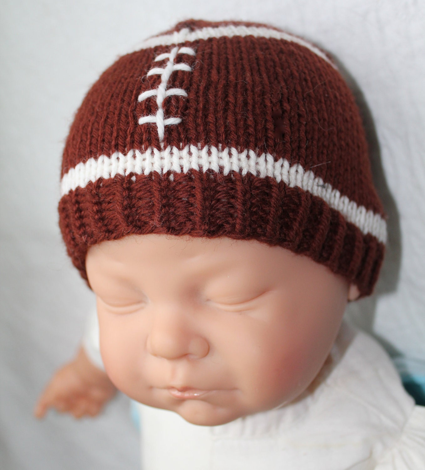 PATTERN Football Hat Knitting Pattern Size 0 to 3   6 to 12  a2724acee
