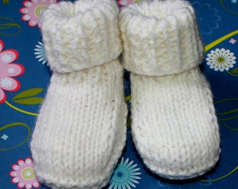 KNITTING PATTERN -  Super Easy Beginner Baby Booty Not Knitted in Rounds