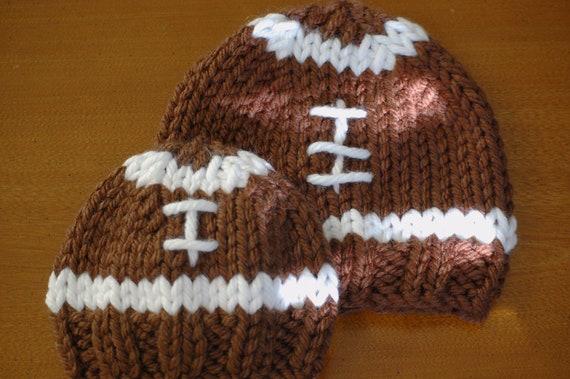 edd29da9484 Knit Football Hat Pattern 3 sizes