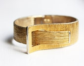 Brushed Gold Cuff Bracelet