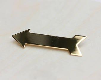 a85805417853 Gold Arrow Pin, Arrow Pin, Arrow Brooch, Gold Arrow Brooch, Arrow, Arrow  Shape, Pin, Brooch