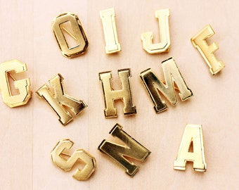 Letter Pin Gold, Gold Letter Pin, Gold Initial Pin, Initial Pin, Name Pin, Initial Brooch, Jacket Pin, Gold Pin, a,f,g,h,i,j,k,m,n,o,p,r,s