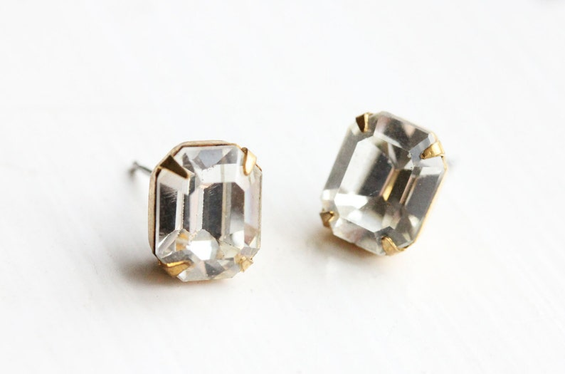 d4eba4c2c Crystal Studs Clear Large Crystal Studs Fancy Stud Earrings   Etsy