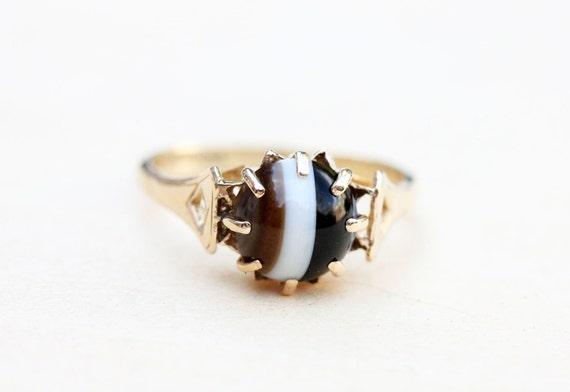 Gold Agate Ring, Agate Ring, Gold Ring, Gold Stone