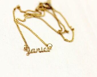 Janice Name Necklace