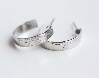 Silver Hoop Earrings, Small Silver Hoops
