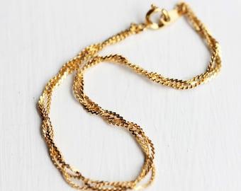 Braid Bracelet Gold, Braided Bracelet, Gold Chain Bracelet, Gold Braided Bracelet, Thin Gold Chain, Chain Bracelet, Gold Layering Bracelet