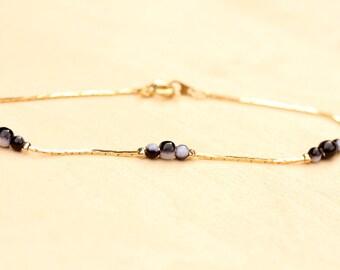 Tiny Jasper Chain Bracelet