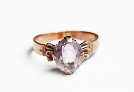 Victorian Ring Gold, Amethyst Victorian Ring, Vict
