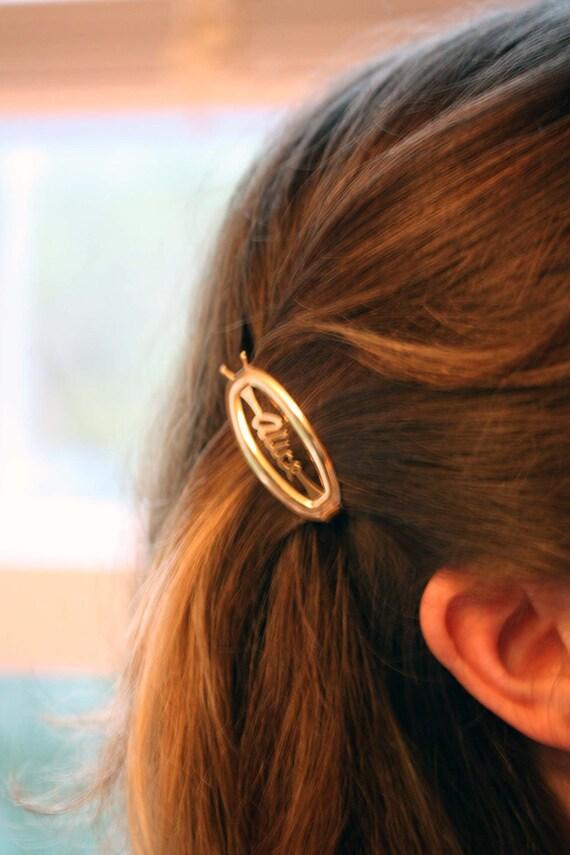 Sheila Hair Clips Gold Vintage Hair Clips Gold Clips Vintage Name Jewelry Hair Clips Name Hair Clips Vintage Hair Clips Gold