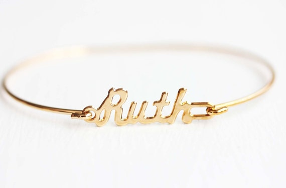 Ruth Namen Armband Ruth Name Ruth Namen Schmuck Ruth | Etsy