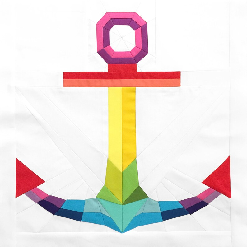 Hold Fast Anchor Quilt Block image 0