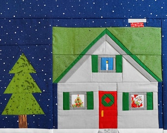 Home for the Holidays Quilt Block