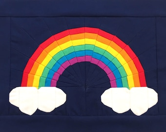 Over the Rainbow Quilt Block