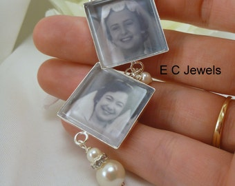 Custom Bouquet Charm with Pearl Acents - Pick your color