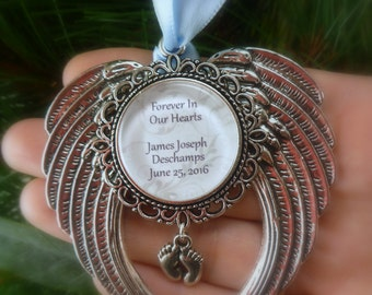 """Memorial Baby / Miscarriage Ornament """"Forever in our Hearts"""""""