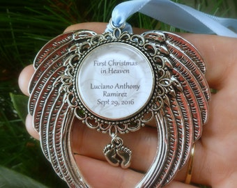 """Memorial Baby / Miscarriage Ornament """"First Chritmas in Heaven"""""""