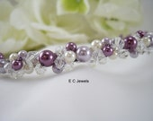 Pearl and Crystal Wrapped Tiara / Headband - Pick your Color