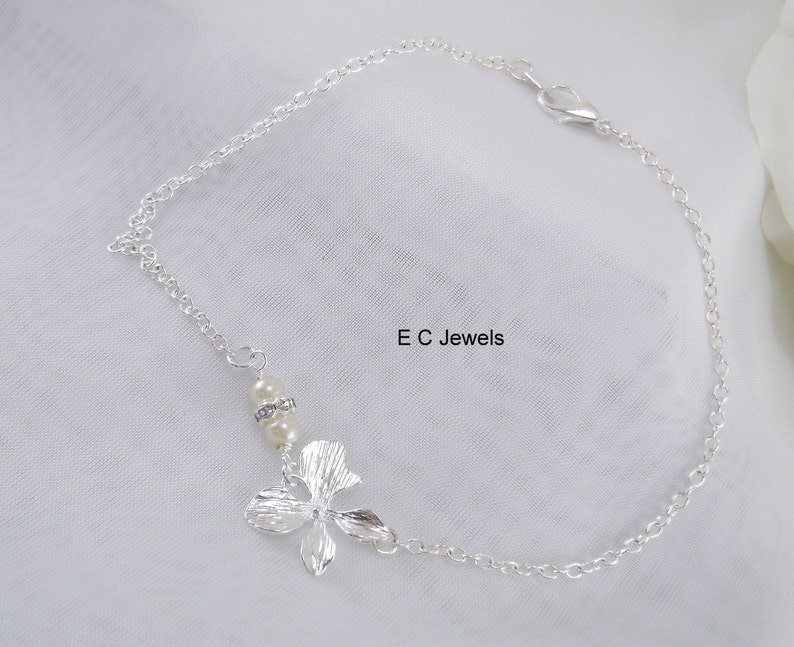 Pick your Color Simplicity Orchid Anklet