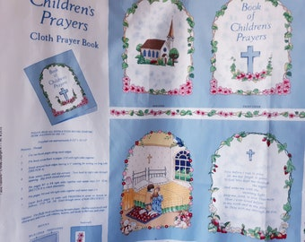 My Book of Christmas Carols Look /& Learn Cloth Book Fabric Panel Cut /& Sew