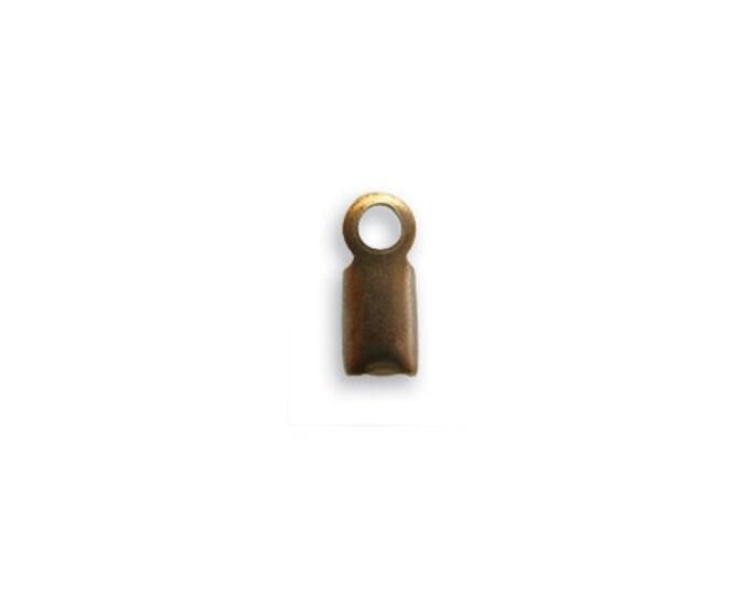10 pieces 8mm Crimp End Natural Brass Vintaj Item CE10